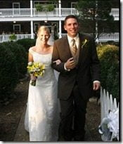Scott Stallings Jennifer white wedding pic