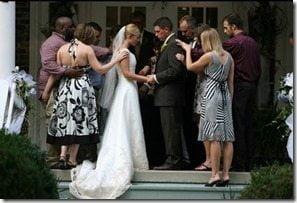 Scott Stallings Jennifer white wedding picture