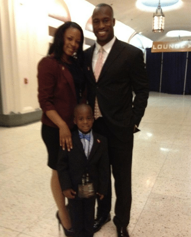 Vernon Davis with beautiful, cute, amusing, Wife Janel Horne