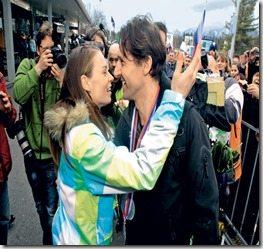 Andrea Massi Tina Maze boyfriend coach-picture