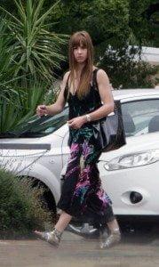 Leah Skye Malan, girlfriend of Oscar Pistorius, leaving a salon in her hometown of Potchefstroom, South Africa.