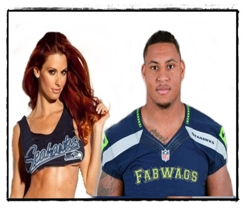 Who is Seattle Seahawks  player Malcolm Smith's girlfriend/ Wife?