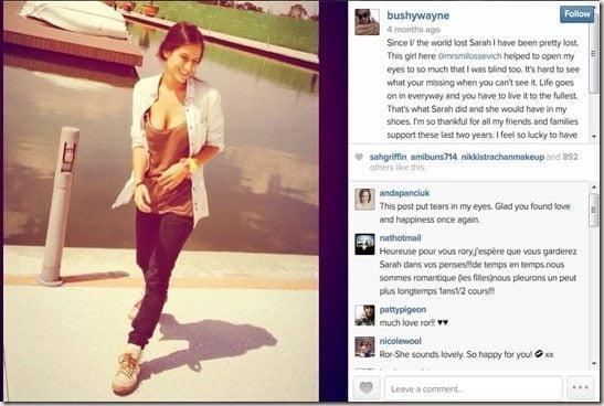 Rory Bushfield girlfriend Macarena Estecha Milossevich
