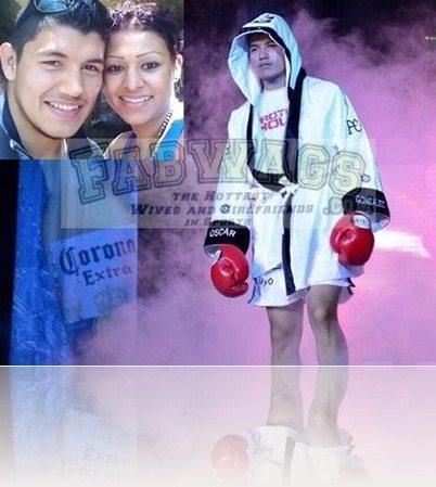 boxer Oscar el fantasma Gonzalez wife Magaly Gozalez pictures