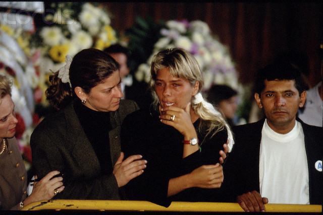 Adriane Galisteu Ayrton senna funeral