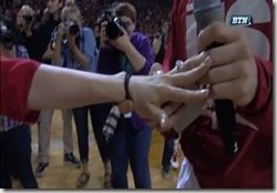Mike Peltz Shelby Campbell marriage proposal-photo