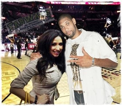 Tim Duncan with beautiful, Girlfriend Vanessa Macias