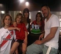 Diego Simeone family