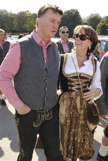 Louis van Gaal with kind, nice, Wife Truus van Gaal