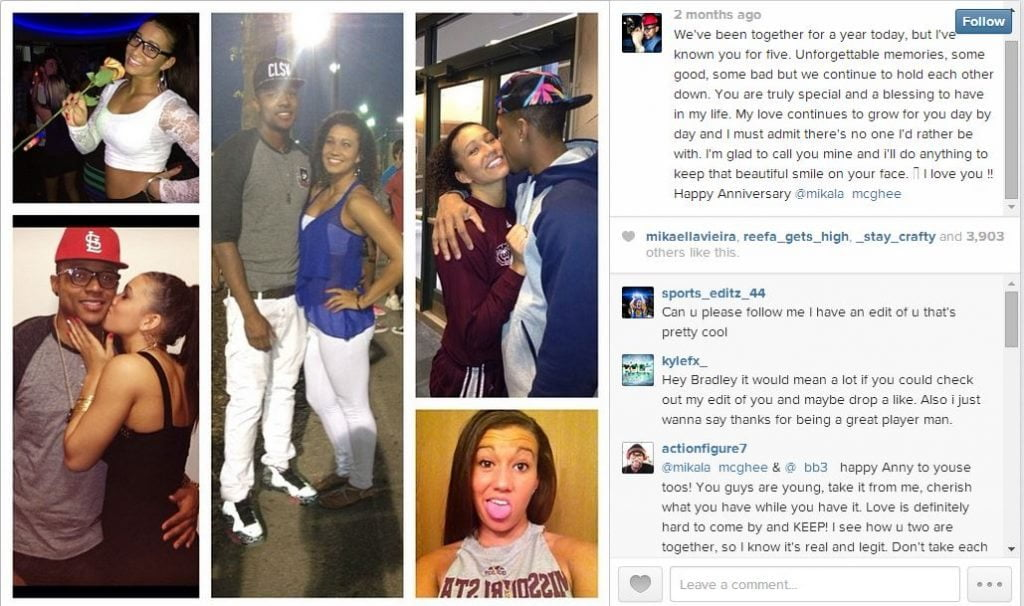 We previously met Bradley Beal's former girlfriend Gymnast Kytra Hunter, and you know that they are no longer together, however Beal's is not single either, his new girlfriend is a stunning girl that Fabwags identified as Mikala McGhee, a simple, yet very complex. Missouri State student-Athlete.  #wizards #nbawags #bradleybeal #mikalamcgee @fabwags