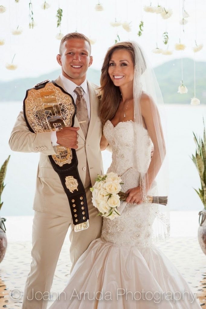 Family photo of the boxer, married to Rebecca Reynoso, famous for UFC Bantamweight Championship &  The Ultimate Fighter 14.