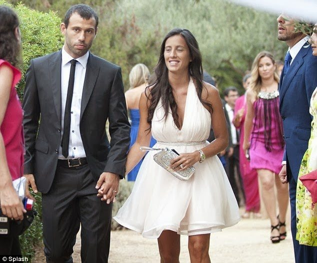 Javier Mascherano with beautiful, Wife Fernanda Mascherano