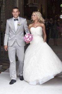 Lukas Podolski Monika Puchalsi wedding pic