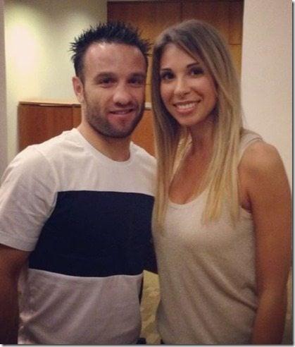 Mathieu Valbuena's girlfriend