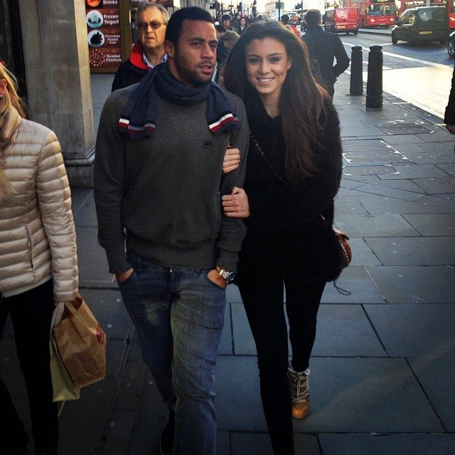 Moussa Dembélé with cute, Girlfriend Naomi Solange