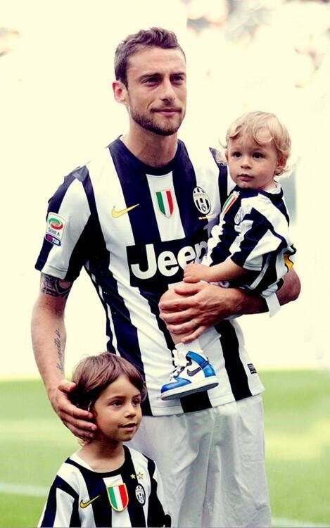 Photo de Claudio Marchisio & son  fils  Leonardo Marchisio