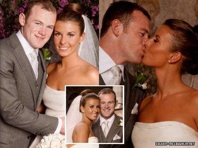 Wayne Rooney Coleen Wedding