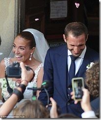 Giorgio Chiellini Carolina Bonistalli wedding photo