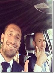 Giorgio Chiellini Carolina Bonistalli wedding pic