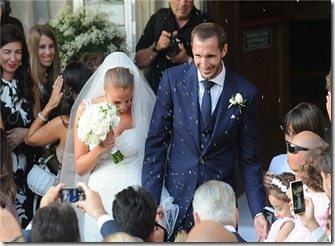 Giorgio Chiellini Carolina Bonistalli wedding pics