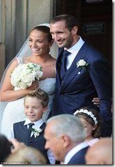 Giorgio Chiellini Carolina Bonistalli wedding pictures