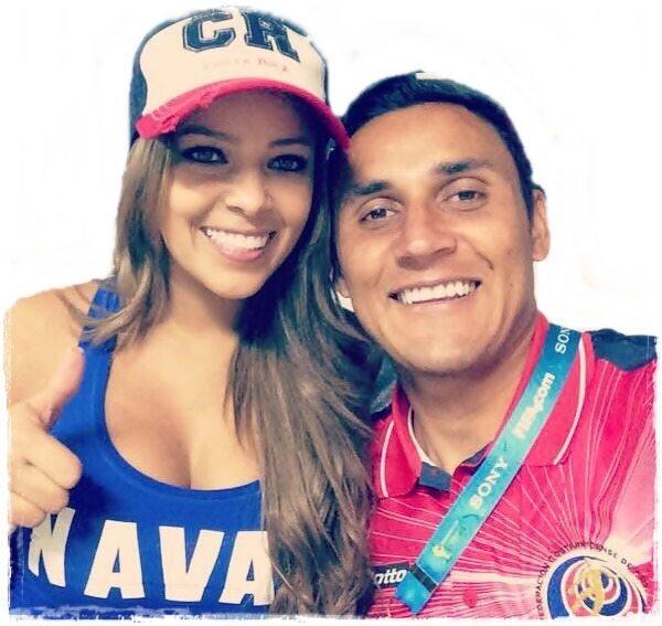 Andrea Salas – Goalkeeper Keylor Navas' wife