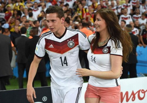 Julian Draxler with beautiful, cute, Girlfriend Lena Terlau