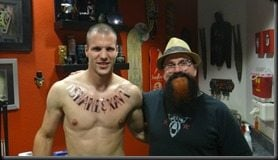 Ron Vlaar tattoo