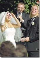 Chris Jericho wife Jessica Lee Lockhart wedding picture