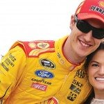 NASCAR driver Joey Logano is dating Brittany Baca, who will become his wife in December 2014 #nascarwags #brittanybaca #joeylogano @fabwags