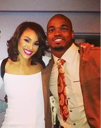 Adrian peterson wife and kids
