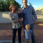 Alex Gordon wife Jamie Boesche-Gordon sons