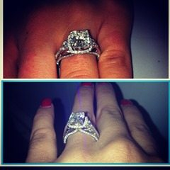 Gabriella Waheed emmanuel Sanders girlfriend engagement ring