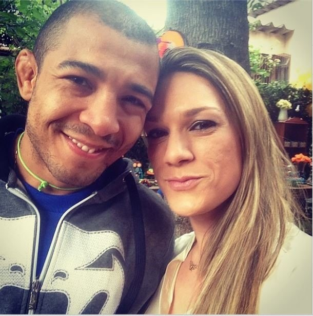 José Aldo with cool, sexy, nice, Wife Vivianne Aldo
