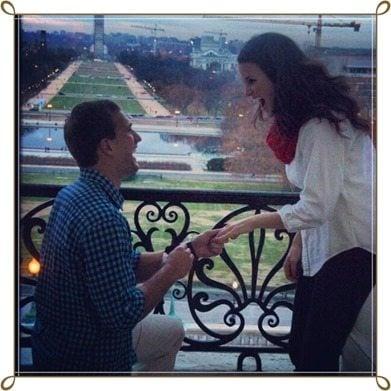 Kirk Cousins Julie Hampton engagement