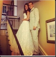 Kirk Cousins Julie Hampton wedding-photo