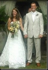 Kirk Cousins Julie Hampton wedding picture