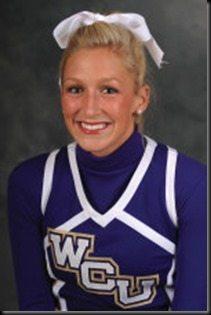 Lacey Canada WCU Cheerleader