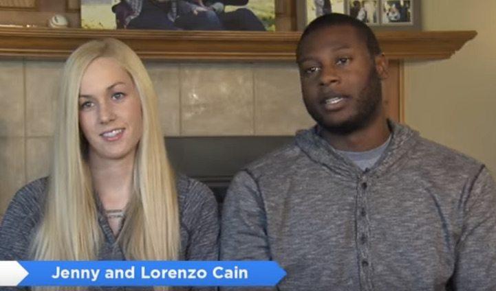 Lorenzo Cain wife Jenny Cain