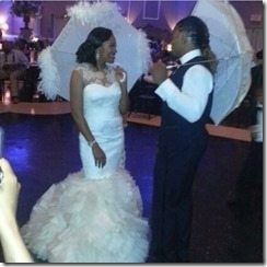 Arianna Bolden Brandon Bolden wedding pic