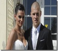Martin Skrtel Barbora Lovasova wedding pic