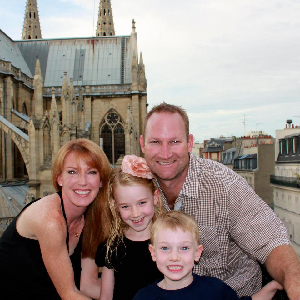 Heather Cox with her hubby Bill Cox and her two sons