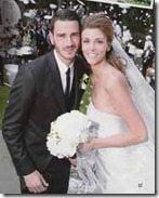 Leonardo Bonucci Martina Maccari wedding pic