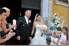 Marian Hossa Jana Hossa wedding pic