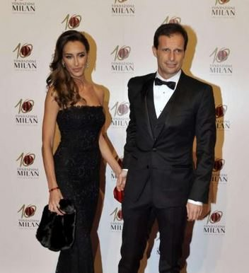 Massimo Allegri with cute, Wife Gloria Patrizi
