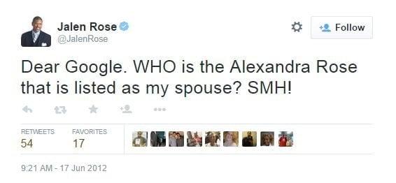 Jalen Rose Alexandra Rose