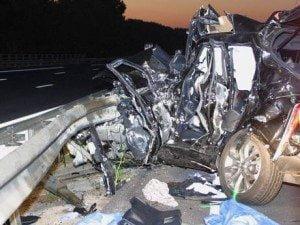 Jerry Collins car crash photo