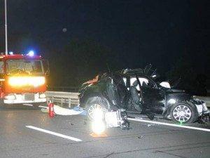 Jerry Collins car crash photos