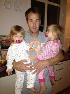 Magnus Norman twin daughters