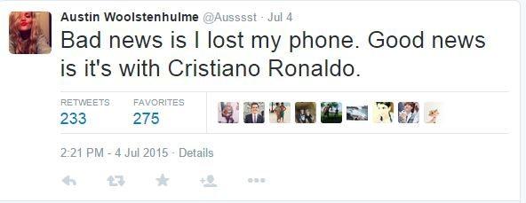 Austin Woolstenhulme Cristiano Ronaldo pic